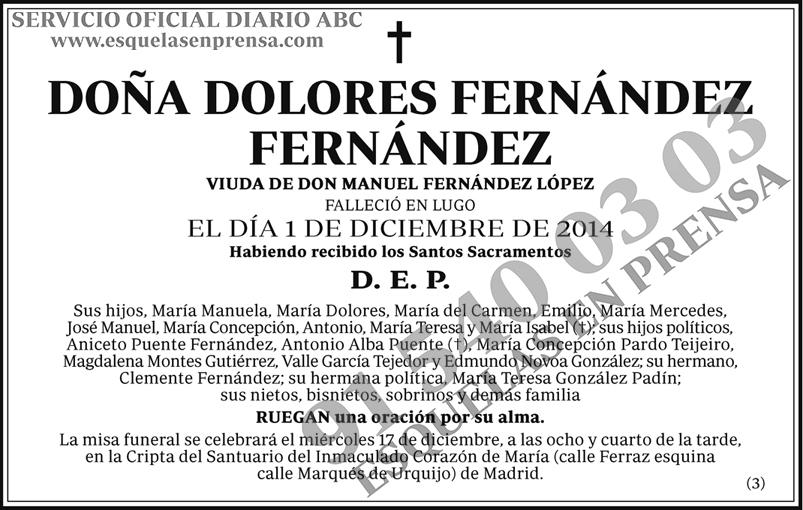 Dolores Fernández Fernández